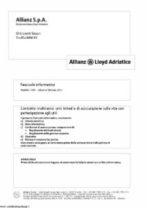Allianz Lloyd Adriatico - Orizzonti Sicuri Tariffa 88M01 - Modello 7395 Edizione 02-2012 [62P]