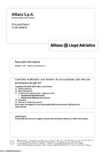 Allianz Lloyd Adriatico - Orizzonti Sicuri Tariffa 88M01 - Modello 7395 Edizione 12-2011 [58P]