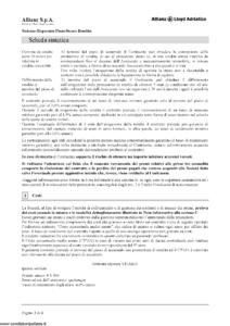 Allianz Lloyd Adriatico - Sistema Risparmio Pianosicuro Rendita Tariffa 36Ce01 - Modello 7393 Edizione 12-2011 [46P]