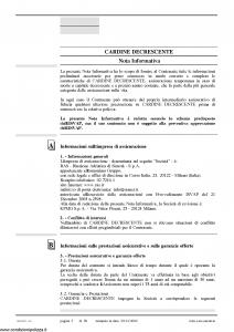 Allianz Ras - Cardine Decrescente Per Il Futuro Di Chi Ami Tariffa 4Ad-Nf-04 - Modello 7304d-nf Edizione 10-2006 [28P]