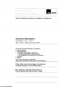 Allianz Ras - Idee Versione Senior Le Energie E La Forza Di Realizzare Tariffa R4A-2 - Modello 7338-s Edizione 12-2005 [126P]