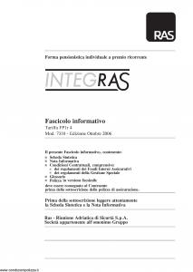 Allianz Ras - Integras Forma Pensionistica Individuale Tariffa Fp1R-4 - Modello 7310 Edizione 10-2006 [116P]