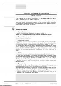 Allianz Ras - Sistema Risparmio Capitale Sicuro Sicuro Di Crescere Tariffa 38Ur05 - Modello 7369 Edizione 03-2010 [68P]