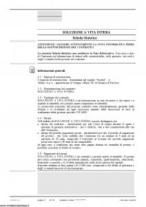 Allianz Ras - Soluzione A Vita Intera Protezione Certa Tariffa R1A-06 - Modello 7344 Edizione 03-2010 [68P]