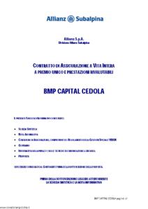 Allianz Subalpina - Bmp Capital Cedola - Modello bmpcc002 Edizione 31-08-2010 [41P]