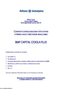 Allianz Subalpina - Bmp Capital Cedola Plus - Modello bmpcc003 Edizione 31-05-2011 [34P]