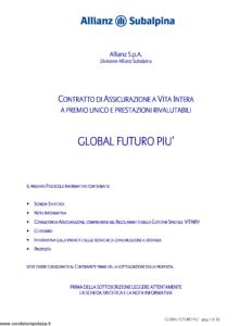 Allianz Subalpina - Global Futuro Piu' - Modello crval0010110 Edizione 30-12-2009 [36P]
