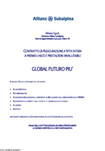 Allianz Subalpina - Global Futuro Piu' - Modello crval0021210 Edizione 30-11-2010 [34P]