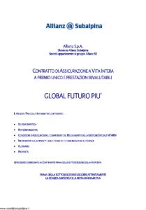 Allianz Subalpina - Global Futuro Piu' - Modello crval002 Edizione 07-2011 [38P]