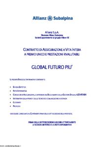Allianz Subalpina - Global Futuro Piu' - Modello crval002 Edizione 31-12-2012 [40P]
