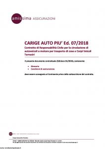 Amissima - Carige Auto Piu' Ed 07-2018 - Modello cpa002 Edizione 01-2019 [33P]