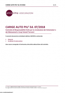 Amissima - Carige Auto Piu' Ed 07-2018 - Modello cpa003 Edizione 02-2019 [35P]