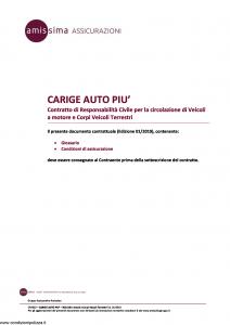 Amissima - Carige Auto Piu' - Modello cpa002 Edizione 01-2019 [34P]