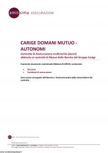 Amissima - Carige Domani Mutuo Autonomi - Modello 43309-141b-ba Edizione 01-2019 [15P]