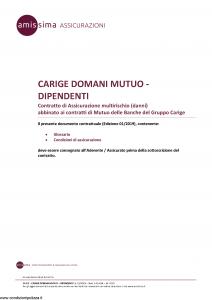 Amissima - Carige Domani Mutuo Dipendenti - Modello 44309-141a-ba Edizione 01-2019 [15P]