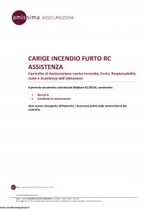 Amissima - Carige Incendio Furto Rc Assistenza - Modello 38401-176ba Edizione 01-2019 [20P]