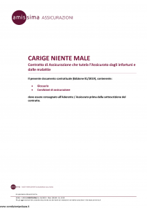 Amissima - Carige Niente Male - Modello 33301-206ba Edizione 01-2019 [14P]