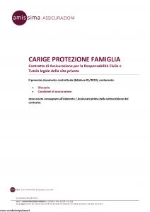 Amissima - Carige Protezione Famiglia - Modello 44601-222ba Edizione 01-2019 [14P]