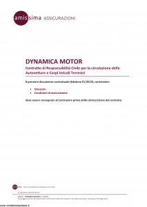 Amissima - Dynamica Motor - Modello ara001 Edizione 01-2019 [46P]