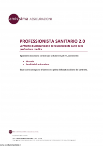 Amissima - Professionista Sanitario 2.0 - Modello 60017 Edizione 01-2019 [11P]