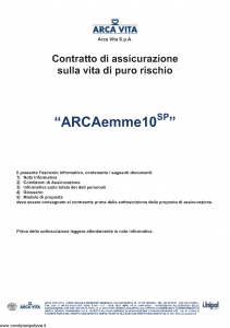 Arca Vita - Arcaemme10 Sp - Modello nd Edizione 31-05-2012 [31P]