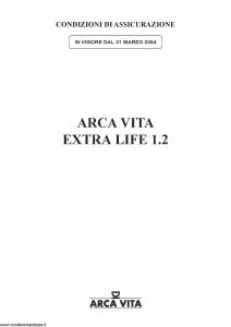 Arca Vita - Extra Life 1.2 - Modello nd Edizione 31-03-2004 [22P]