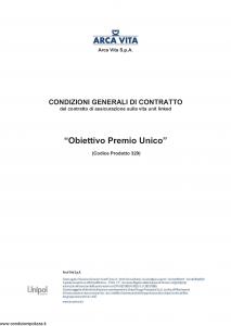 Arca Vita - Obiettivo Premio Unico - Modello nd Edizione nd [118P]