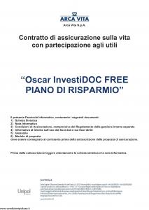 Arca Vita - Oscar Investidoc Free Piano Di Risparmio - Modello nd Edizione 01-01-2016 [43P]