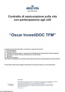 Arca Vita - Oscar Investidoc Tfm - Modello nd Edizione 01-01-2016 [39P]