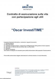 Arca Vita - Oscar Investitime - Modello nd Edizione 01-01-2016 [40P]