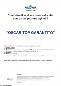 Arca Vita - Oscar Top Garantito - Modello nd Edizione 01-01-2016 [41P]