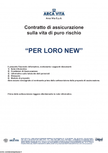 Arca Vita - Per Loro New - Modello nd Edizione 31-05-2012 [29P]