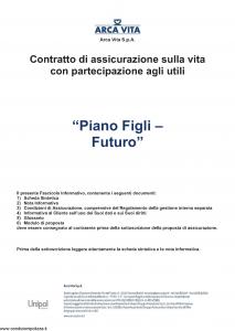 Arca Vita - Piano Figli Futuro - Modello nd Edizione 31-05-2016 [43P]