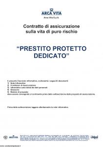 Arca Vita - Prestito Protetto Dedicato - Modello nd Edizione 31-05-2012 [27P]