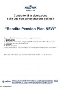 Arca Vita - Rendita Pension Plan New - Modello nd Edizione 31-05-2012 [35P]