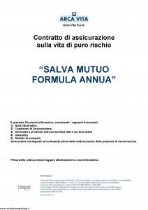 Arca Vita - Salva Mutuo Formula Annua - Modello nd Edizione 01-10-2015 [29P]