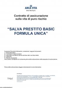 Arca Vita - Salva Prestito Basic Formula Unica - Modello nd Edizione 01-10-2015 [28P]