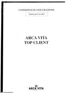 Arca Vita - Top Client - Modello nd Edizione 01-01-2001 [SCAN] [11P]