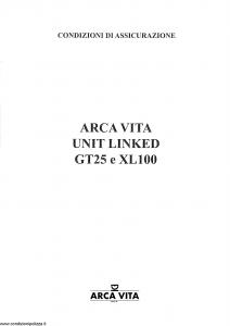 Arca Vita - Unit Linked Gt25 E Xl100 - Modello gt25-xl100 Edizione 09-1999 [SCAN] [15P]