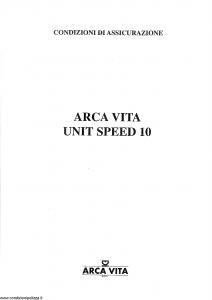 Arca Vita - Unit Speed 10 - Modello nd Edizione nd [SCAN] [22P]