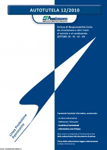Assimoco - Autotutela - Modello a000-b-rca Edizione 12-2010 [70P]