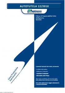 Assimoco - Autotutela - Modello a008-b-rca Edizione 01-2011 [20P]
