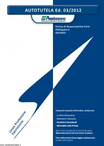 Assimoco - Autotutela - Modello a008-b-rca Edizione 03-2012 [15P]