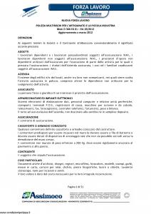 Assimoco - Nuova Forza Lavoro - Modello d-366-cg-01 Edizione 03-2012 [51P]