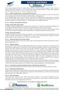Assimoco - Polizza Sanitaria Per Soci Delle Casse Raiffesen - Modello mal-007-cg-bz Edizione 01-2012 [8P]
