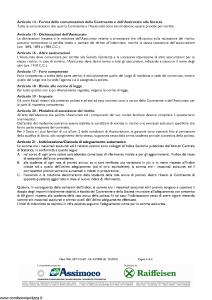 Assimoco - Polizza Sanitaria Per Soci Delle Casse Raiffesen - Modello mal-007-cg-bz Edizione 12-2010 [6P]