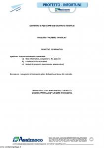 Assimoco - Protetto Infortuni - Modello d-352-cg-02 Edizione 04-2013 [38P]