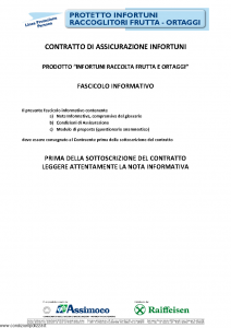 Assimoco - Protetto Infortuni Raccoglitori Frutta Ortaggi - Modello nd Edizione 04-2013 [20P]