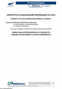 Assimoco - Rc Delle Professioni Liberali E Tecniche Ver. B - Modello d-375-cg-01 Edizione 04-2013 [21P]
