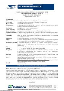 Assimoco - Rc Professionale - Modello d-375-cg-01 Edizione 12-2010 [12P]